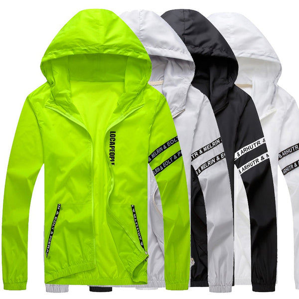 Mens Casual Jacket Outdoor Sportswear Windbreaker Lightweight Bomber Jackets