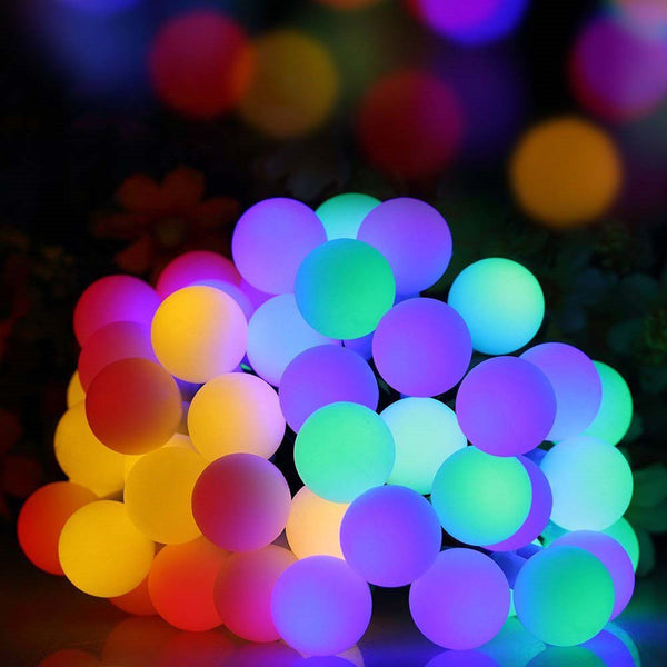 Solar Powered Scrub Ball Lights String Party Decor Striking With 30 LED Beads