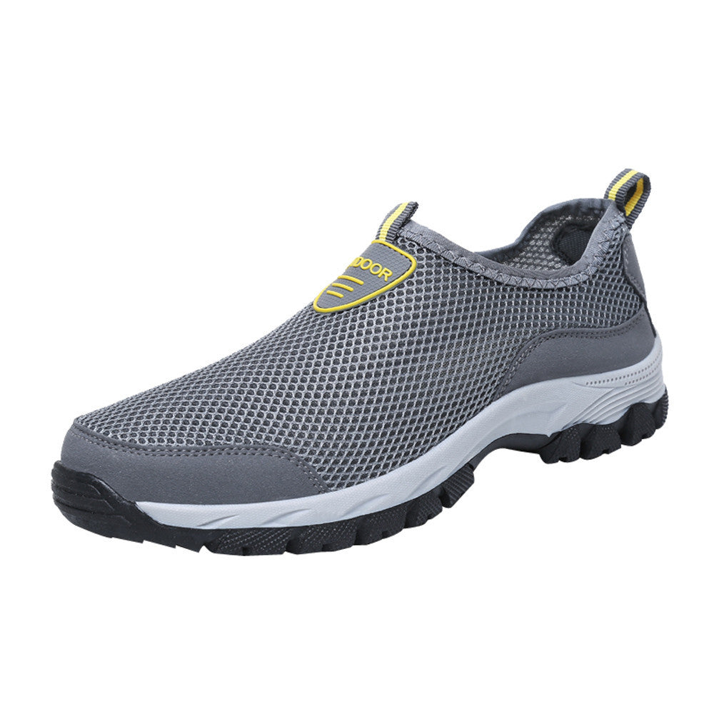Men Outdoor Mesh Shoes Casual Slip On Comfortable Running Mountaineering shoes