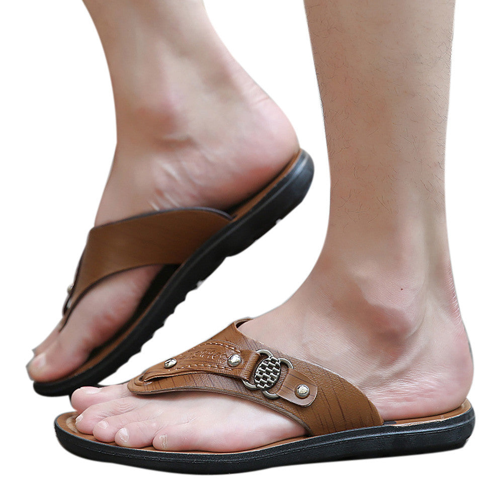 Men Summer Beach Shoes Slippers Flip-Flops Comfortable Beach Shoes Soft Sandal