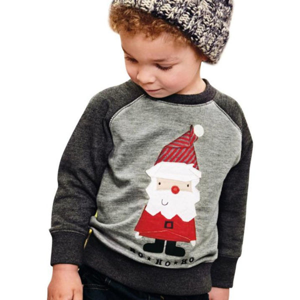 Christmas Baby Girl Boy Sweatshirt Autumn Winter Long Sleeve Warm O-Neck Sweatshirts Clothes