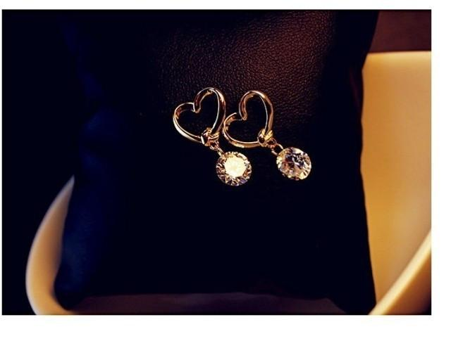 Rhinestone Crystal Silver Stud Earrings Piercing Ear Studs for Women