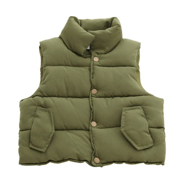 Cotton Warm Boys Vest Baby Girls Waistcoat Thick Toddler Kids Vest Girls Jackets Outerwear Autumn Winter Children Clothing