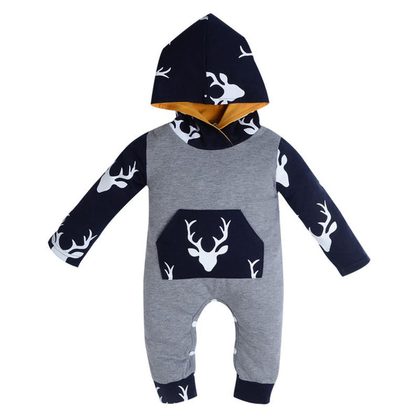 Little Cute Baby Warm Ear Rompers Autumn Winter Infant Style Jumpsuit Cotton Boys Girls Playsuits Hooded Clothes