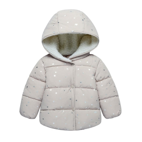 Autumn Jackets Winter Jacket Baby Outerwear Children  Girls Printed Princess First Birthday Gifts Cotton Padded Clothes