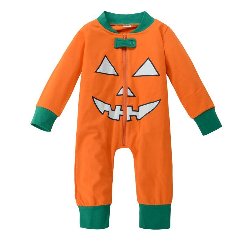 Newborn Baby Clothes Long Sleeve &Pants O-neck Children Pumpkin Style Halloween Set Autumn Winter Baby Boy Warm Clothing