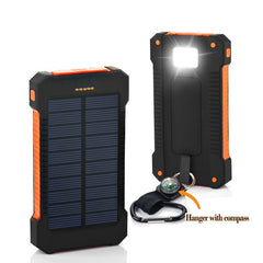 Hot Solar Power Bank 30000mah Waterproof External Battery Backup Powerbank  Phone Battery Charger LED Pover Bank For iphone7 8 X