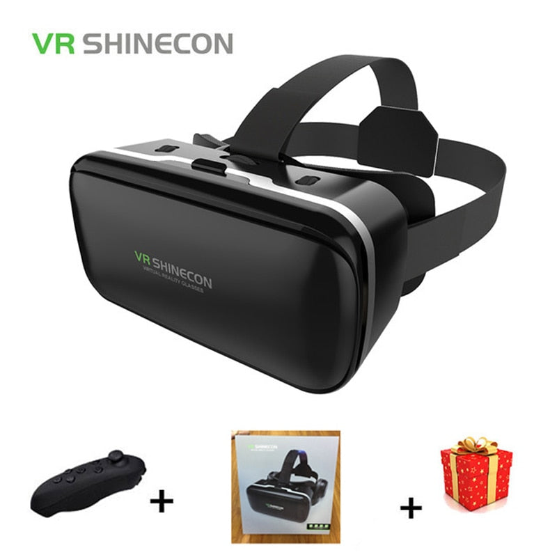 Shinecon 6.0 Casque VR Virtual Reality Glasses 3 D 3d Goggles Headset Helmet For Smartphone Smart Phone Google Cardboard Len
