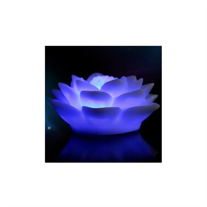 Color Changing LED Floating Lotus Flower Romantic Love Mood Lamp Night Light for Wedding Party Bar Decoration