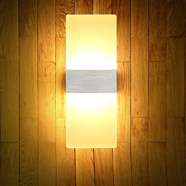 LED Creative Corridor Aisle Wall Mounted Sconce Lamp Bedside Light Acrylic Simple Decorative Lighting