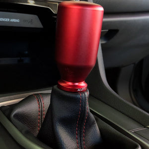 Acuity Shift Boot Collar - Satin Red Aluminum Finish