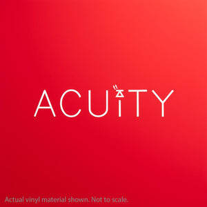 Acuity Matte Red Windshield Banner