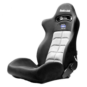 Buddy Club Racing Sport Seat - Black & Grey