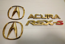 Acura RSX Type S OEM A-Spec Gold Emblems