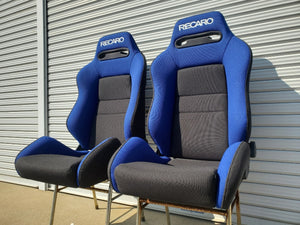 Authentic Recaro Bucket Seats - Blue/Black
