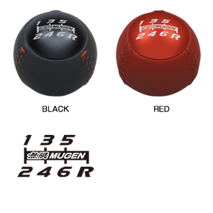 Mugen Shift Knob - 6 Speed Leather Hand Stitched