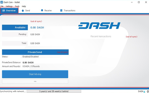 Official Dash Wallet Heavy Wallet Screenshot