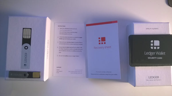 Ledger Nano Recovery Sheet for Recovery Phrase