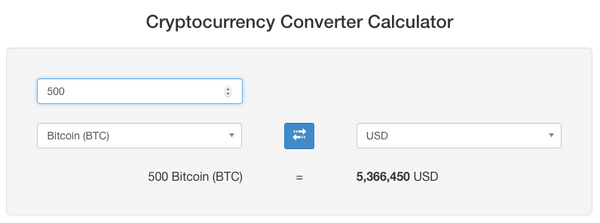 Cryptocurrency Converter Calculator on CoinMarketCap