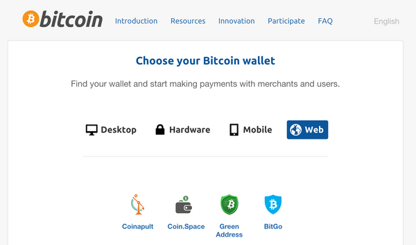 BitGo Online Wallet mentioned on the Bitcoin.Org website