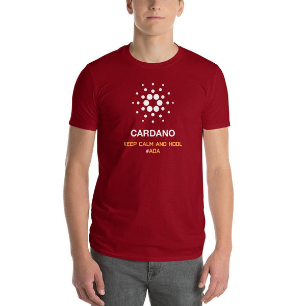 A Special Red Cardano Shirt - blockchain t-shirt, to the moon t-shirt, hard fork cafe