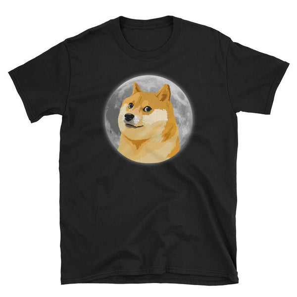 Dogecoin on the Moon Unisex T-Shirt-Crypto Daddy