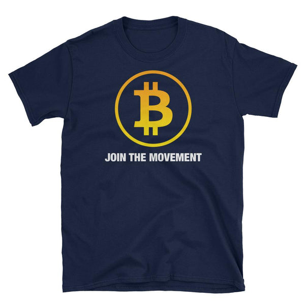 """Join the Movement"" Bitcoin T-Shirt-Crypto Daddy"