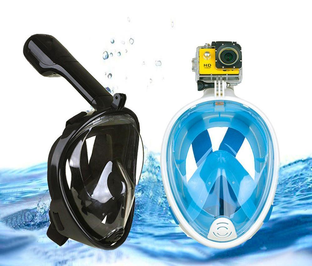 de3b1f6e0 2018 New Full Face Camera Anti-Fog Snorkelling Diving Mask. Double tap to  zoom