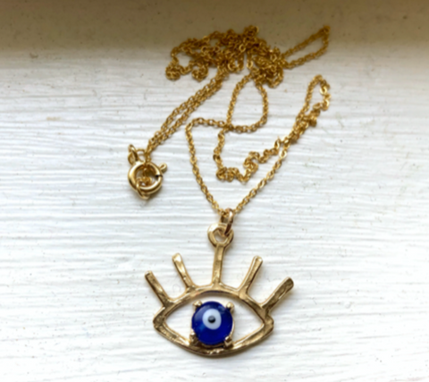 Evil Eye Pendant with Turkish Glass Eye