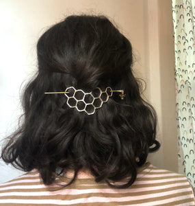 Sterling Silver Honeycomb Hair Slide