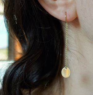 Gold Dot Ear Threads