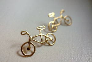 14k gold plated bike studs by rachel pfeffer