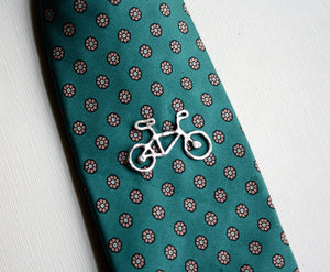 Sterling Silver Bike Tie Tack