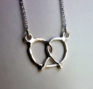 Handmade Sterling Silver Pretzel Necklace