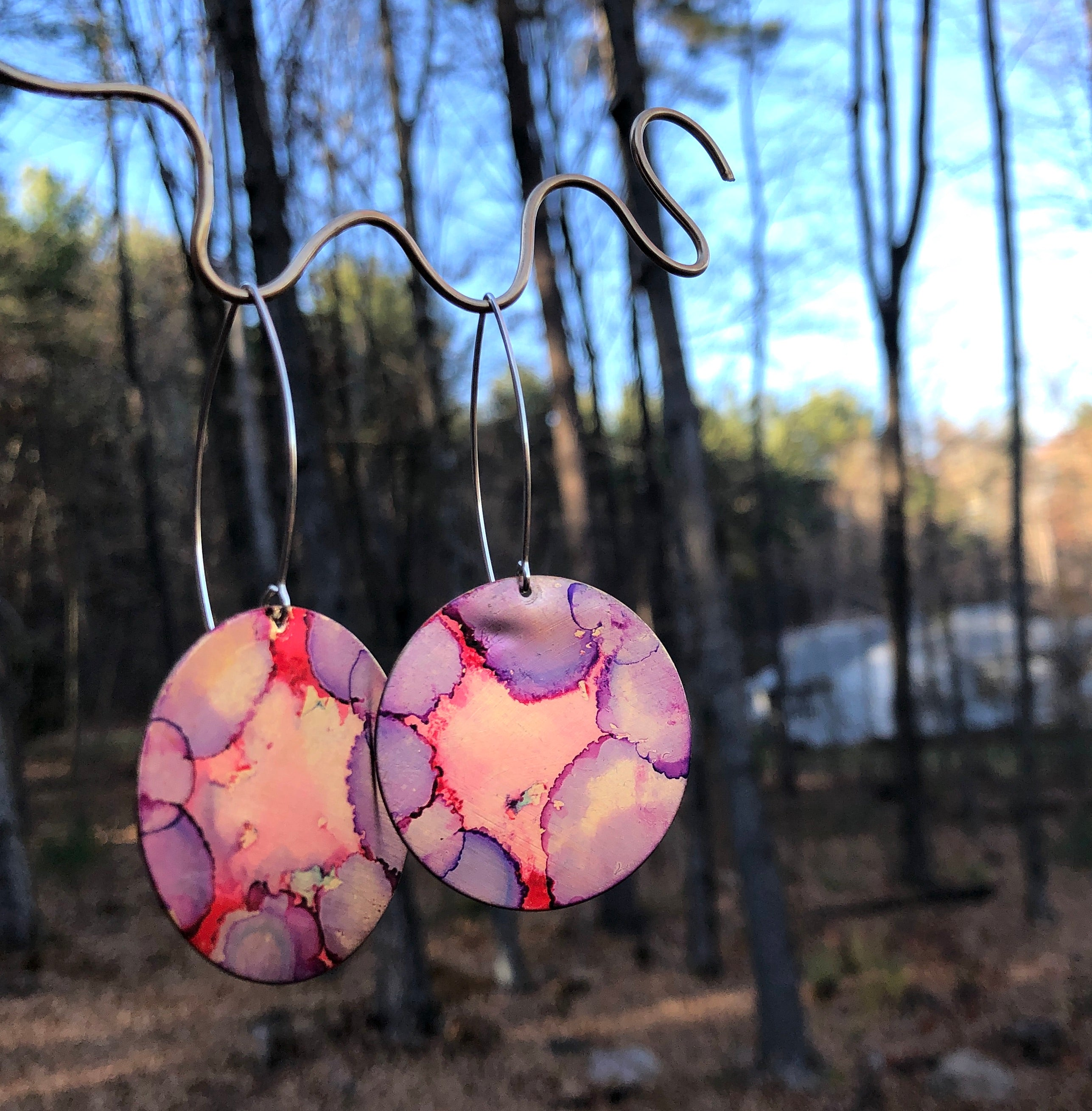 Painted Disc Dangles