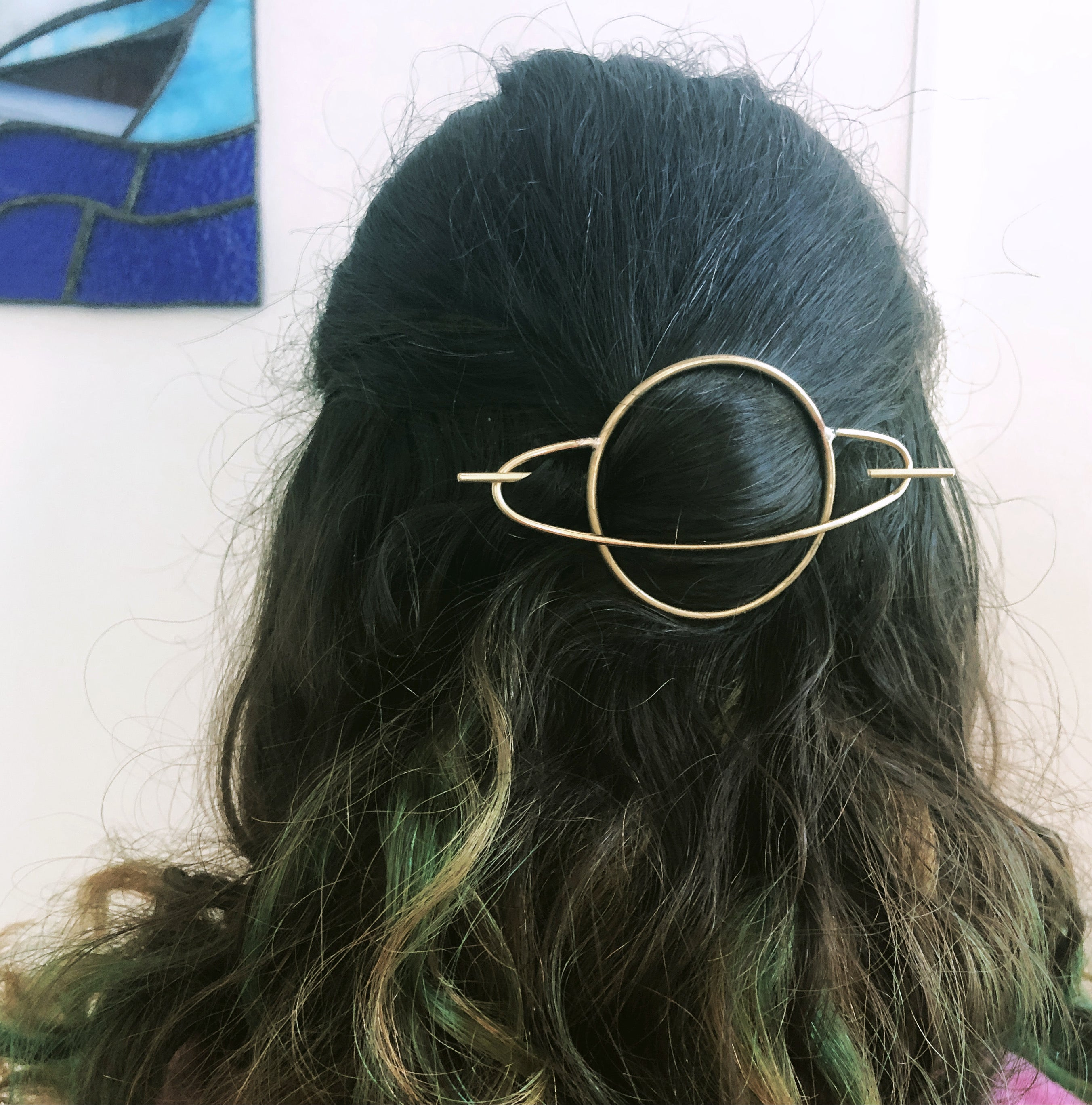 Saturn Hair Slide