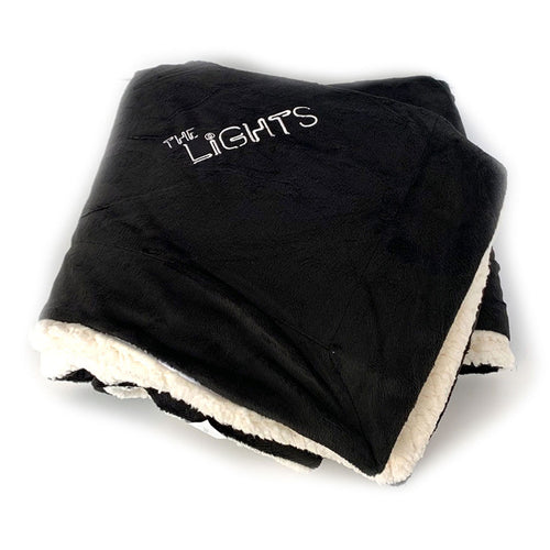 The Lights Plush Blanket - Black
