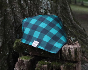 Teal Buffalo Plaid Bandana