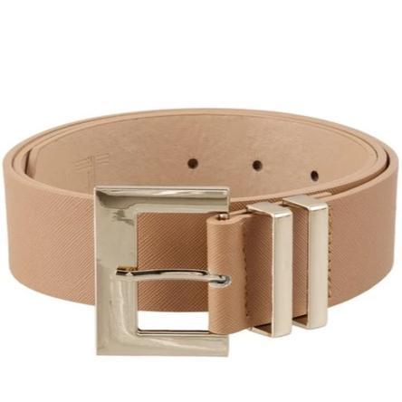 Classic Square Buckle Belt: Taupe - Bella and Bloom Boutique