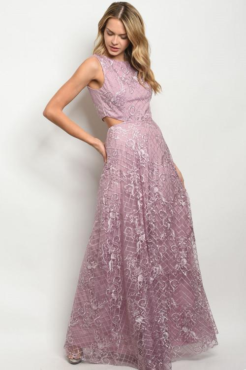 Elegant Nights Maxi Dress: Mauve - Bella and Bloom Boutique