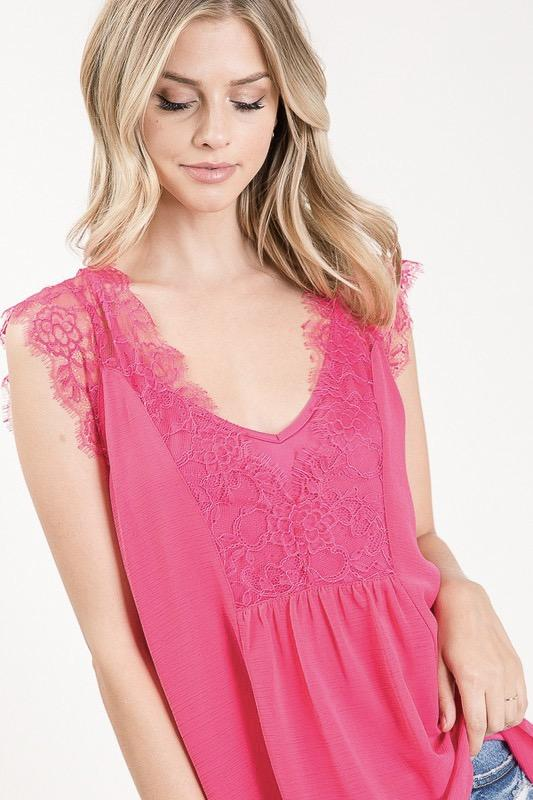 Essence of Beauty Top: Fuchsia - Bella and Bloom Boutique