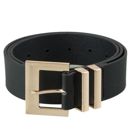 Classic Square Buckle Belt: Black - Bella and Bloom Boutique