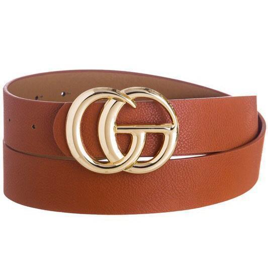 RESTOCK: Label Lover Belt: Cognac - Bella and Bloom Boutique
