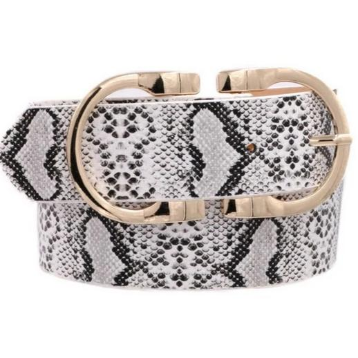 New York Chic Belt: Python - Bella and Bloom Boutique