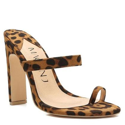 Leigha Leopard Heels: Brown Multi - Bella and Bloom Boutique