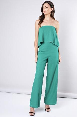 Emerald Kiss Jumpsuit: Emerald - Bella and Bloom Boutique