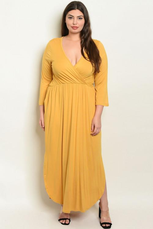 Nothing on You Maxi Dress: Mustard - Bella and Bloom Boutique