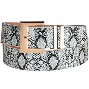 RESTOCK: Classic Square Buckle Belt: Python - Bella and Bloom Boutique