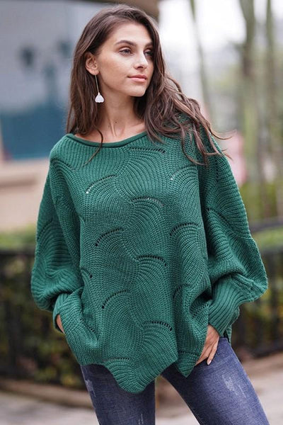 Never Too Busy Sweater: Hunter Green - Bella and Bloom Boutique