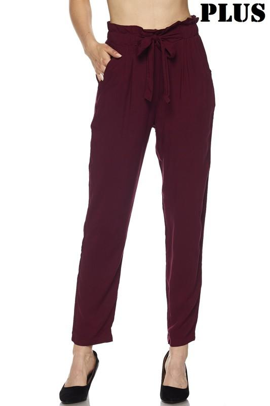 Run the Show Pants: Burgundy - Bella and Bloom Boutique